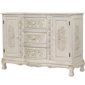 Ogromny Białe komody kolonialne meble stylowe, meble kuchenne, meble YW19