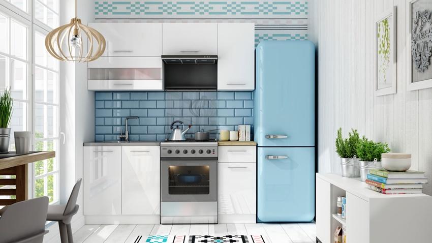 meble kuchenne w białym połysku Tiffany