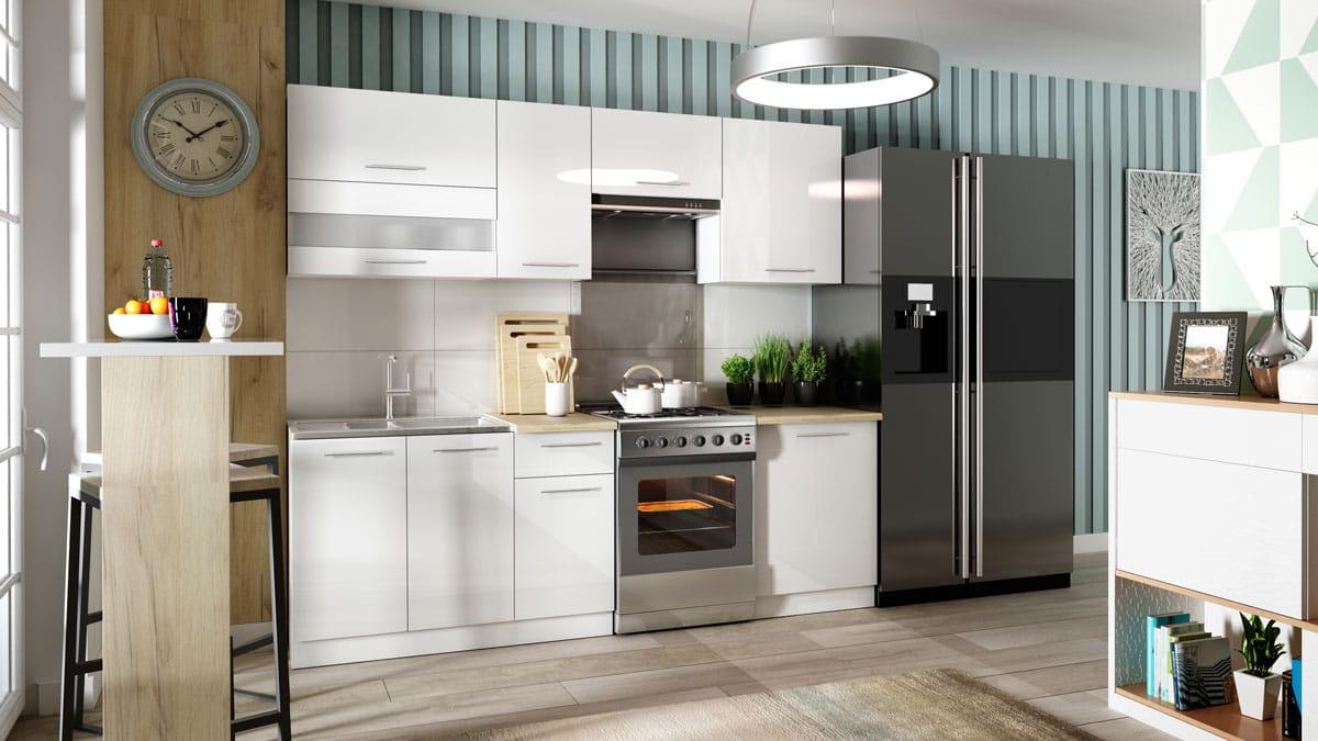 Szafka Kuchenna Wisząca Tiffany W 3072 Kuchnia Biały Połysk
