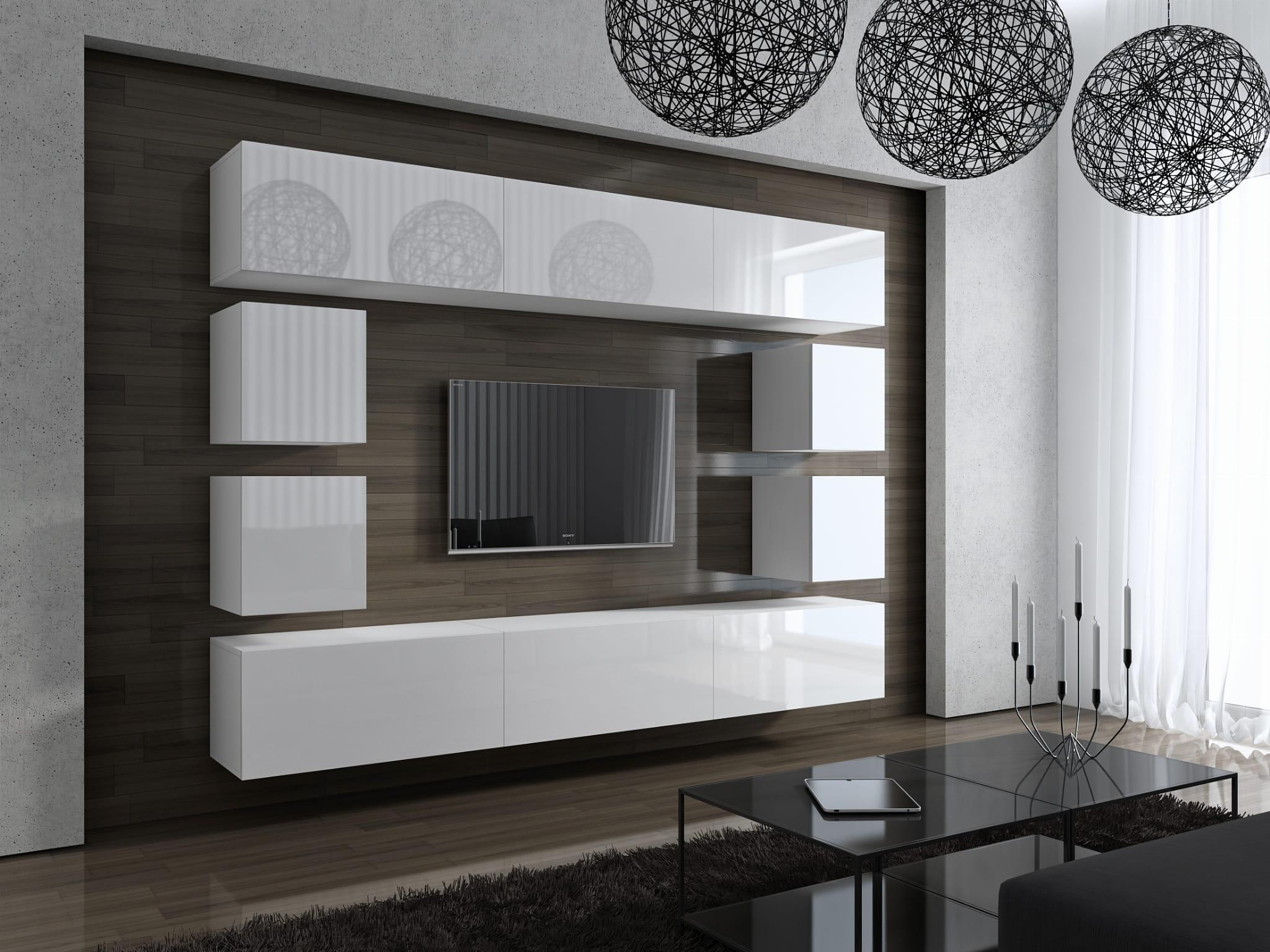 Nowoczesna Biała Meblościanka Concept 17 Fronty W Połysku Meble