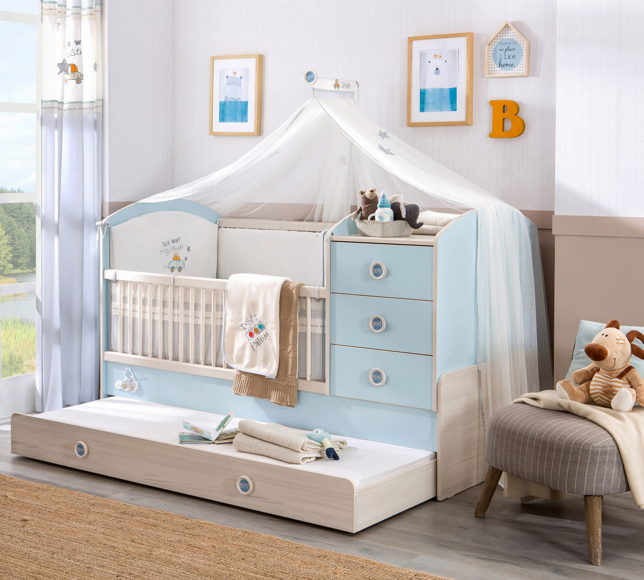 eczko dla niemowlaka babyblue 183 x 89 eleganckie meble dla dzidziusia meble kuchenne na. Black Bedroom Furniture Sets. Home Design Ideas
