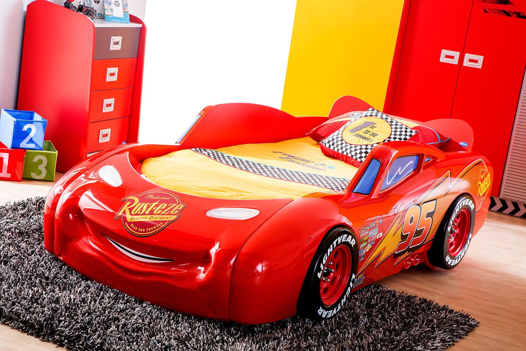 Cars Bett 90x200: łóżko Dziecięce Auto Cars Piston Cup, Meble Kuchenne Na