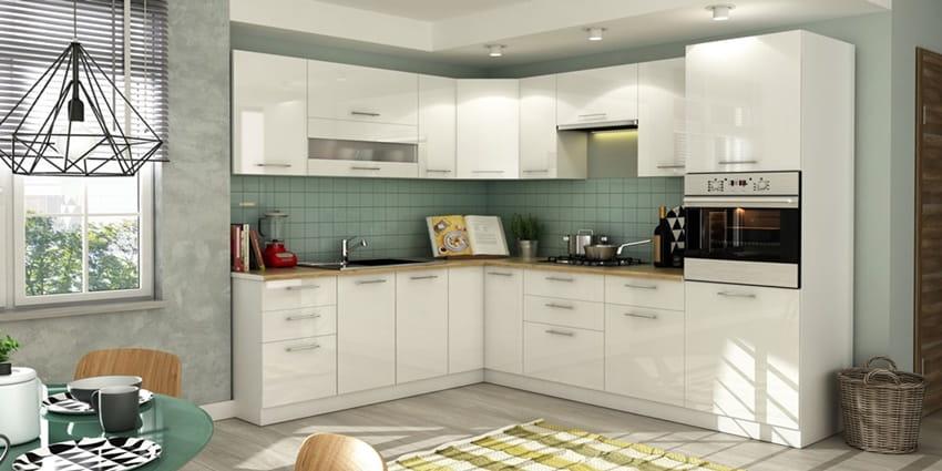 Szafka Wisząca Do Kuchni Tiffany W 4072 Kuchnia Biały Połysk